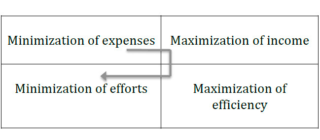 Figure 15. The strategies of material wealth at different stages of human life